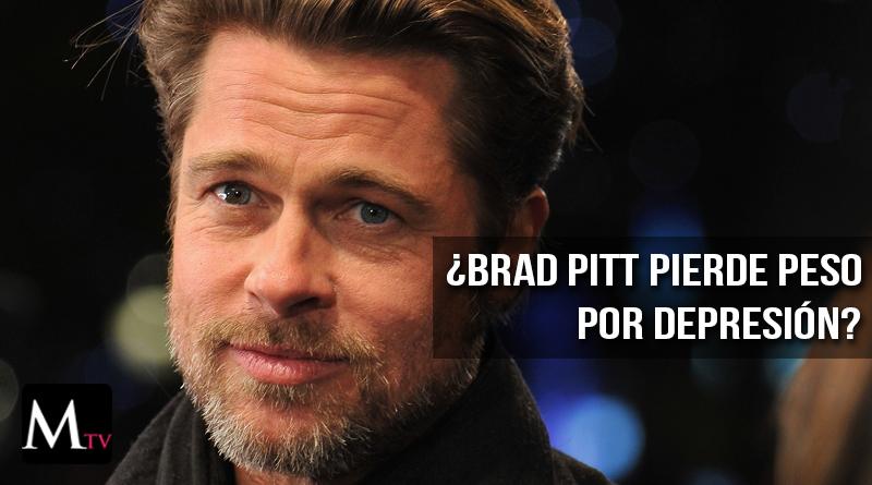 Brad Pitt pierde peso y creen que se debe al divorcio