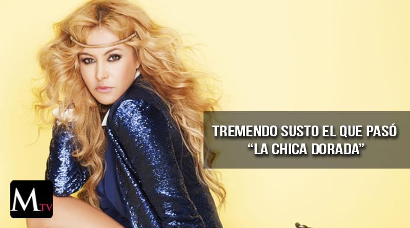 Impactante caída de Paulina Rubio en el escenario
