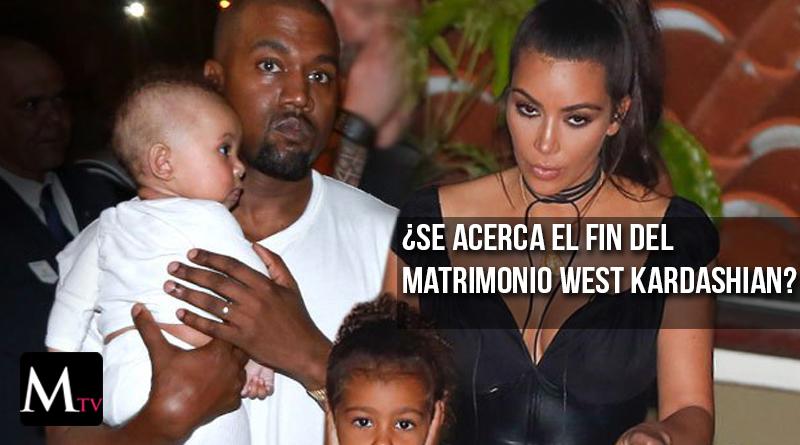 Kim Kardashian y Kanye West en medio de crisis matrimonial