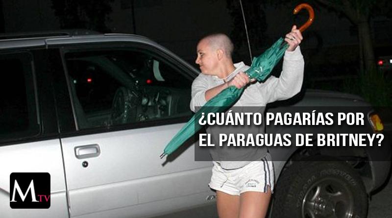 Paraguas con el que Britney Spears atacó a paparazzo a subasta