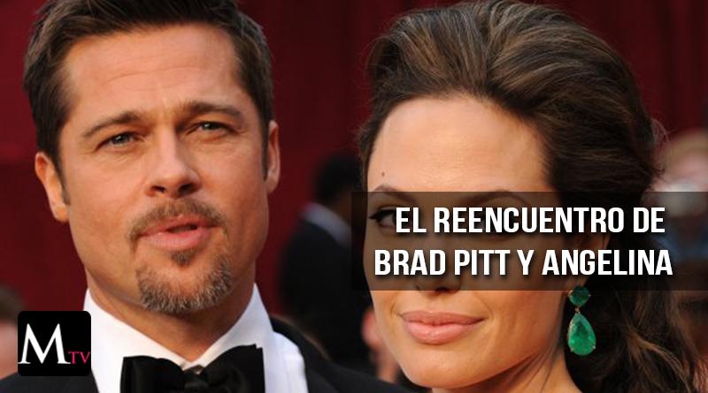 Brad Pitt y Angelina Jolie, juntos por primera vez después de su divorcio
