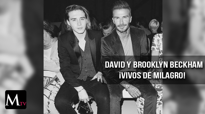 Brooklyn y David Beckham sufren grave accidente