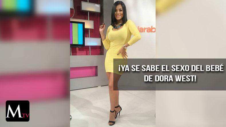 Dora West revela el sexo de su bebé