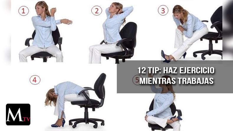 Realiza ejercicio mientras trabajas
