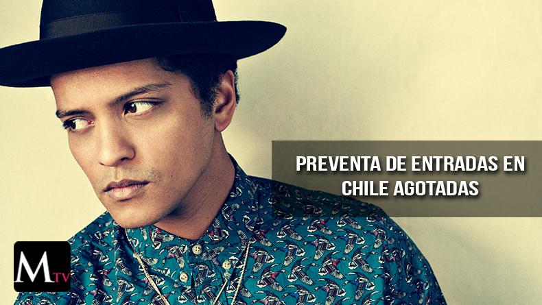 Bruno Mars agotó entradas en Chile