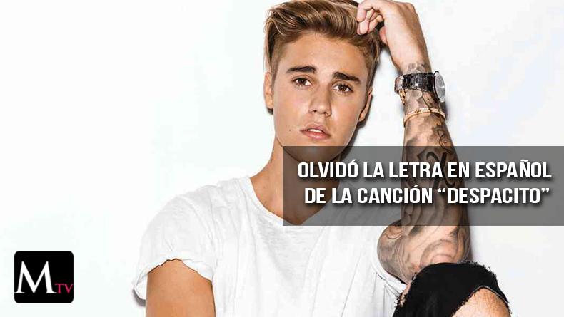 """Justin Bieber se le olvida la canción """"Despacito"""""""