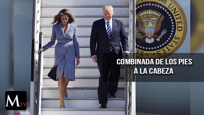 Un look coordinado de Melania trump