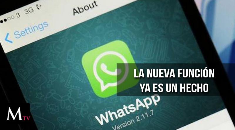 Whatsapp confirma la nueva función